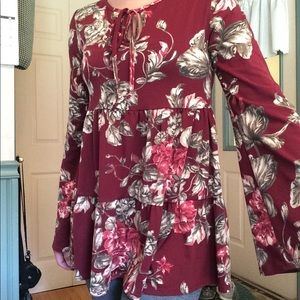 Floral Blouse- Never worn!